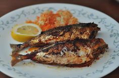 My favorite fish preparation, mackerel stuffed with a hot and sour masala.