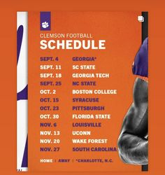 Clemson Football Schedule, South Carolina Homes, Boston College, Wake Forest, Clemson Tigers, Pittsburgh, Florida, The Florida