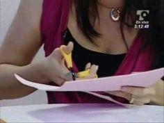 Programa en Telecaribe sobre arte y manualidades, muestra la realización de letras Timoteo en fomi para la decoración de habitaciones infantiles, realizados ...