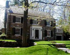 enclosed portico, addition ideas and mistakes Portico Entry, Entry Foyer, Front Entry, Front Doors, Colonial House Exteriors, Glass Porch, Stone Facade, Georgian Homes, Exterior Makeover