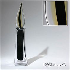 Quill Perfume Bottle - Designer Chip Scarborough. Artist signed. Hand-blown glass. Sale $149.99.