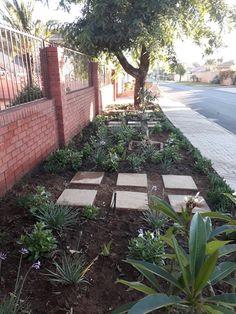 My sidewalk strip. Low cost.  Low maintenance.
