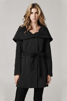 Andrea Coat in Black Brocade