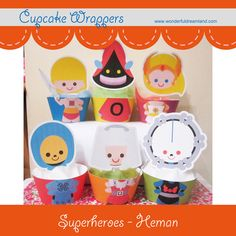 Printable Digital PDF File  Cupcake Wrappers by clipartsuperstore, $12.00