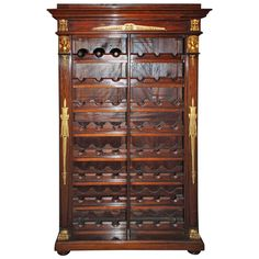Antique French Empire Wine Rack | From a unique collection of antique and modern wine coolers at https://www.1stdibs.com/furniture/more-furniture-collectibles/wine-coolers/