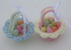 crochet easter patterns | Free Crochet Pattern - Miniature Easter Baskets from the Easter Free ...