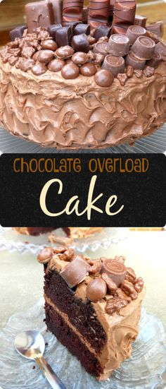 Chocolate Overload Layer Cake with Nutella Cream Cheese Frosting - this truly decadent specimen makes the perfect celebration or birthday cake! #birthdaycake #birthday #cake #celebration #dessert #chocolate #foodblogger