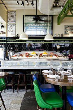 «The John Dory Oyster Bar by Nicole Franzen». | 1196 Broadway, New York, NY 10001, EE.UU.