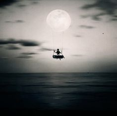 Moon Rise....Black & White artistic expression #photography