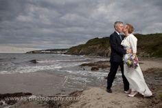 A romantic Cornish seascape for this Rosevine couple. www.rosevineweddings.co.uk