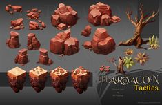 Hartacon Tactics Desert Set by MrYulcha ★ || CHARACTER DESIGN REFERENCES (www.facebook.com/CharacterDesignReferences & pinterest.com/characterdesigh) • Love Character Design? Join the Character Design Challenge (link→ www.facebook.com/groups/CharacterDesignChallenge) Share your unique vision of a theme every month, promote your art and make new friends in a community of over 20.000 artists! || ★