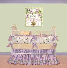 Violet's Garden Crib Linens