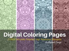2 FREE High Resolution 600dpi Mandalas for Coloring!
