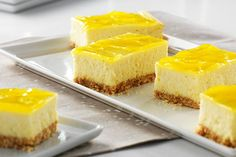These tangy-sweet squares are a marriage of two classic desserts--lemon bars and cheesecake. A luscious lemon glaze is the perfect finishing touch.