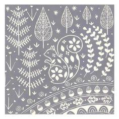 Scandinavian Pattern, Scandinavian Folk Art, Woodland Creatures, Woodland Animals, Dandelion Drawing, Linocut Prints, Art Prints, Hand Embroidery Designs, Pottery Painting