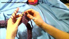 Ako štrikovať sveter/vestu 3.časť - (predný diel-dekolt a ramená).mp4