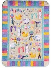 Quilt Embroidery Patterns, Embroidery Décor Patterns - Everything Baby Quilt Pattern with Embroidery CD