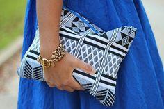 Cute Aztec designed clutch.