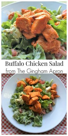 Buffalo Chicken Salad- so fresh, flavorful, and delicious.