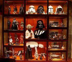 Star Wars Figurines, Star Wars Toys, Star Wars Art, Lego Star Wars, Vitrine Lego, Lego Display, Display Cases, Display Shelves, Display Ideas