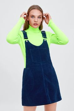 ZARA - TRF - CORDUROY PINAFORE DRESS Garderob 1d23804818f1b