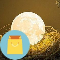 MiniTeasure Baby Moon Night Lamp ABS with Wooden Stand3