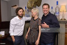 Actors Casey Affleck, Michelle Williams and producer Matt Damon at the…