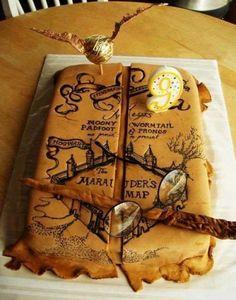 Harry Potter Marauder's Map cake