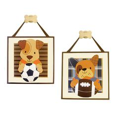 Sports Puppy Plaques | The NY Melrose Family