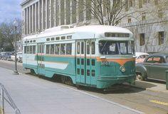 DC Transit PCC on Route 82. Destination Mt. Rainier (1956) (photo by petespix75)