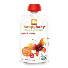 Happy Baby Pouches es una linea completa para bebes y niños que no requiere refrigeración y son convenientes para llevar a cualquier lugar.  Es una excelente opción para comenzar a explorar los primeros alimentos del bebe.  Su presentación es el tamaño adecuado para esos primeros alimentos y los sabores son con los que los bebes comienzan a explorar.  Los Pouches de Happy Baby NO contienen GMOs (Organismos Geneticamente Modificados), Son orgánicos y naturales.   Etapa 2 : +6 Meses Sabor…