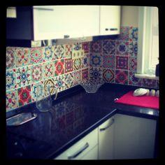 Duvar seramiklerimizin patchwork çalışması...