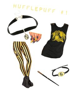 """""""Hufflepuff: Outside Class"""" by the-shadow371 on Polyvore featuring Warner Bros."""