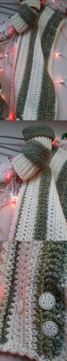 Leg Warmers 163587: Hand Made Crocheted Hooded Scarf And Boot Cuffs -> BUY IT NOW ONLY: $50 on eBay!