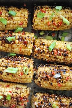 Griled Spicy Hoisin and Sesame-Glazed Corn