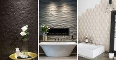 Bathroom Tile Ideas - Install 3D Tiles To Add Texture To Your Bathroom