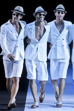 Meet Fashion's 'Magic Mikes': Feast Your Eyes on the Nearly Naked Models of Men's Fashion Week: Everyone's happier when you look like that and don't wear a shirt under your Armani suit.
