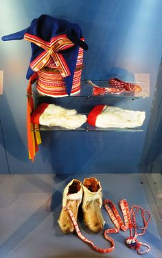 Sami traditional outfit at Arctic Museum in Rovaniemi, Finland