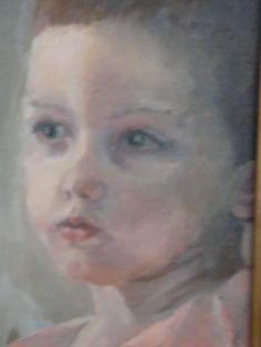 Poika, öljyvärityö, oil painting, by Iiris Ruoho