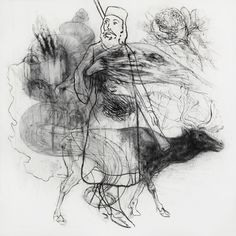 Marco Velk - Bonjour Mr. S (charcoal on paper)