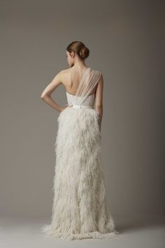 Head over heels for this ostrich feather gown: http://www.stylemepretty.com/2015/04/20/lela-rose-spring-2016/