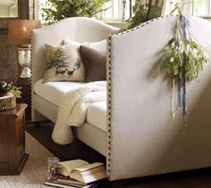 Pad an upcycled baby crib? Turn it into a reading nook. #recycle #reuse #baby…
