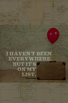 everywhere's on my list