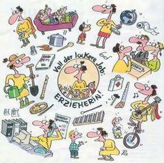 Erzieherin Teacher Quotes, Teacher Humor, Teacher Gifts, Germany For Kids, Outside Fall Decorations, Kindergarten Portfolio, Word Pictures, Creative Kids, Pre School