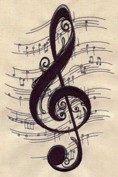 Pretty music tattoo, my thought is our wedding song in the background