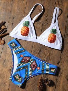Pineapple Padded Bikini #women, #men, #hats, #watches, #belts, #fashion