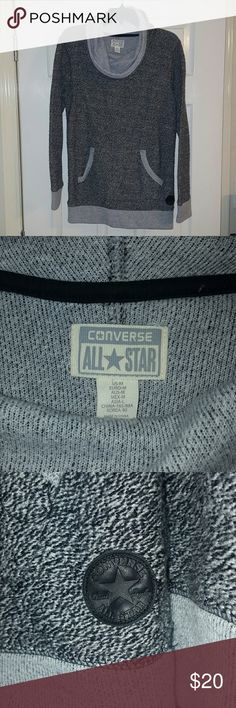 Converse Cowl Neck Sweatshirt Cowl Neck Sweatshirt. Super soft, super warm. 42% poly, 39%cotton, 9% rayon, 2%wool, 3% other fiber. No tears, stains, or wear. Perfect condition. Never worn because it was too big. Converse Tops Sweatshirts & Hoodies
