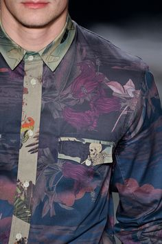 Alexandre Herchcovitch Men Summer 2013 We love this men's floral shirt at http://www.cooganlondon.com