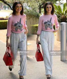 #SelenaGomez out and about rocking that unicorn look. Follow Pin @alinafashinova for more Selena Gomez looks!