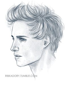 "ribkadory: "" 8 am after sleepless night - Eddie Redmayne, that's who i need to draw xD """